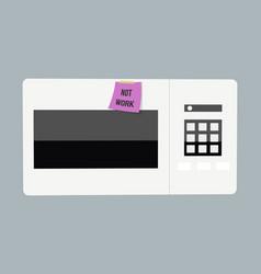 abstract creative funny cartoon microwave set vector image vector image