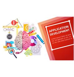 application development create design site vector image