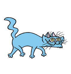 cartoon evil cat preys vector image vector image