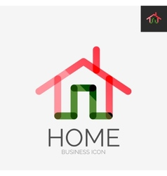 Minimal line design logo home icon vector image vector image