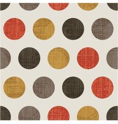 seamless polka dots pattern vector image vector image