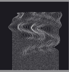 white on black abstract waterfall concept dynamic vector image