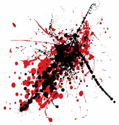 blood splat with black vector image