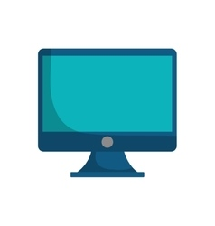 blue screen computer device technology vector image