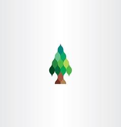 fir tree icon design vector image