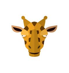 giraffe head icon in flat design vector image