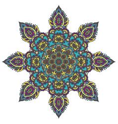 mandala pattern of henna floral elements vector image vector image