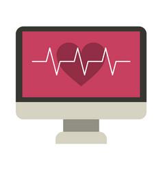 monitor heartbeat cardiology rhythm vector image