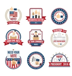 Presidential Election Labels vector image vector image