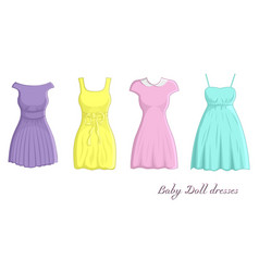 baby doll dresses vector image