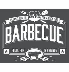 Backyard Barbecue Invitation vector image