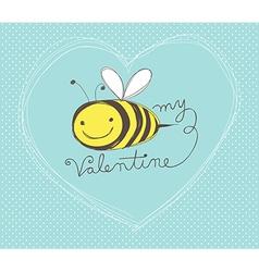 bee my valentine vector image