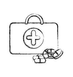 profile suitcase health with treatment icon vector image