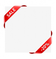 the ribbon vector image vector image