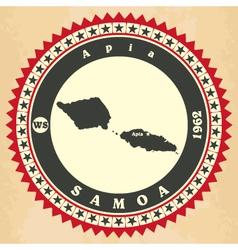 Vintage label-sticker cards of Samoa vector image vector image