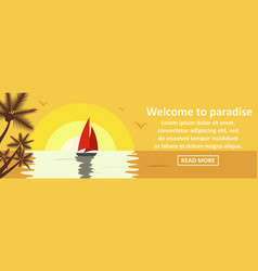 welcome to paradise banner horizontal concept vector image