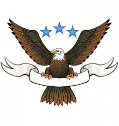bald eagle insignia vector image vector image