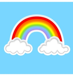 clouds with rainbows b vector image