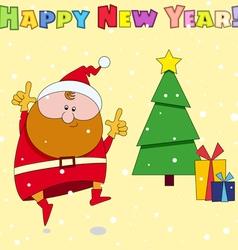 Congratulation card Happy New Year vector image vector image