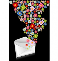 flower mail vector image
