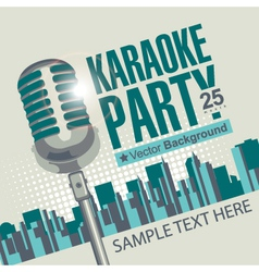 Karaoke parties vector image vector image