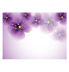 Pansy flowers on the greeting card vector image