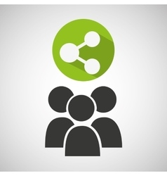 social media group sharing design vector image