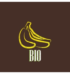 vintage with bananas vector image vector image