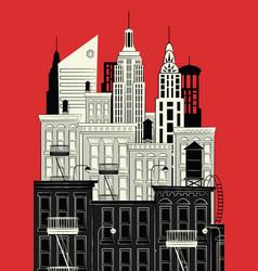 A sketch of new york vector
