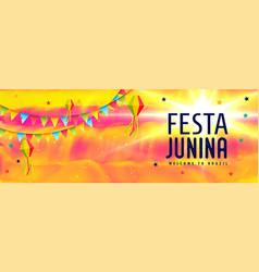 Abstract festa junina brazil festival banner vector