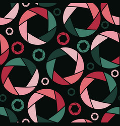 Abstract seamless pattern with aperture in flat vector
