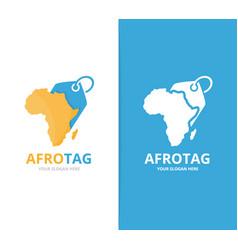 Africa and tag logo combination safari vector