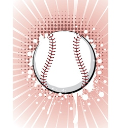 Baseball Ball on Background with Rays5 vector