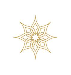 beauty flower icon design vector image