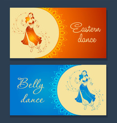 belly dance banner vector image