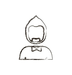 Blurred silhouette half body man with beard vector