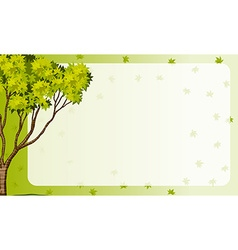 Border frame with nature theme vector image