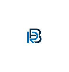 br or rb abstract outstanding professional vector image