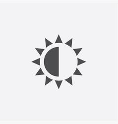 Brightness contrast icon vector