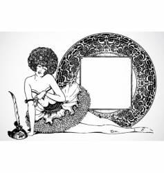 burlesque frame vector image
