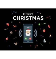 Christmas phone call from santa claus vector