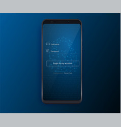 clean mobile ui design concept login vector image