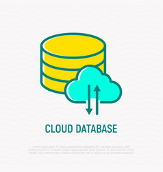 cloud database thin line icon vector image