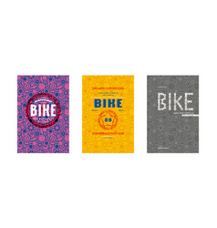 Covers design for bike shop catalog vector