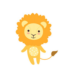 Cute soft lion plush toy stuffed cartoon animal vector