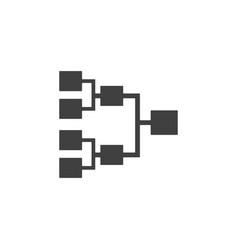 database server diagram icon element of vector image