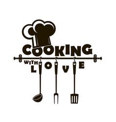 design with kitchen utensils vector image