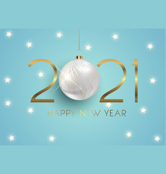 Elegant happy new year background with hanging vector