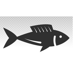 Fish or seafood flat icon on a transparent vector