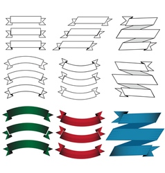 Flat design origami banners vector image